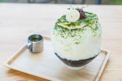bingsu зеленого чая Стоковые Фото