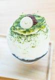 bingsu зеленого чая Стоковые Изображения