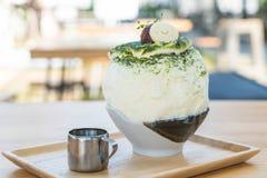 bingsu зеленого чая Стоковая Фотография RF