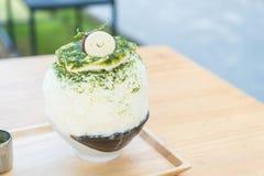 bingsu зеленого чая Стоковое Изображение