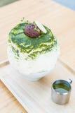 bingsu зеленого чая Стоковая Фотография