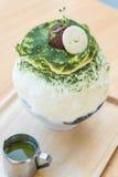 bingsu зеленого чая Стоковое Изображение RF