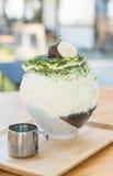 bingsu зеленого чая Стоковые Фотографии RF