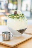 bingsu зеленого чая Стоковые Изображения RF