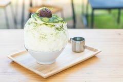 bingsu зеленого чая Стоковое фото RF