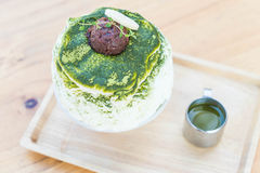 bingsu зеленого чая Стоковое Фото