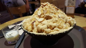 Bingsu (korean ice dessert) Stock Image