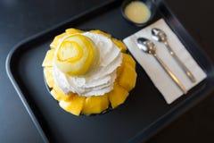 Bingsu mango Arkivfoton