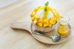 Bingsu mango Fotografering för Bildbyråer