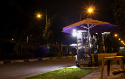 Binh Duong city. Binh Duong nightlife, lively and bustling Stock Images