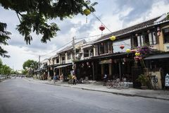 Binh Duong city, viet nam. Welcome to Hoi An city, wonderful and romantic stems of Vietnam Stock Photography