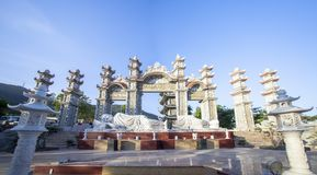 Binh Duong stad, Vietnam Arkivbilder