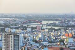 Binh Loi bridge and high view in Ho Chi Minh city Stock Photo