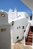 Binibeca alley white village, Menorca, Spain Stock Photos
