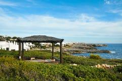 Binibeca coastline in Menorca Spain. A view of Binibeca coastline in Menorca, Balearic Islands, Spain Royalty Free Stock Photography