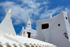Binibequer Vell在Menorca Binibeca白色村庄Sant Lluis 库存图片