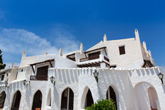 Binibequer Vell in Menorca Binibeca white village Sant Lluis Royalty Free Stock Photo