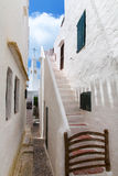 Binibequer Vell in Menorca Binibeca white village Sant Lluis Stock Photography