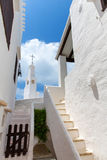 Binibequer Vell in Menorca Binibeca white village Sant Lluis Royalty Free Stock Photos