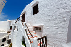 Binibequer Vell in Menorca Binibeca white village Sant Lluis Royalty Free Stock Photography