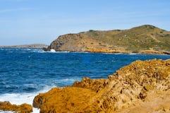 Binimela beach in Menorca Stock Image