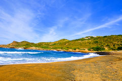 Binimela beach in Menorca Balearic Islands, Spain Stock Photos