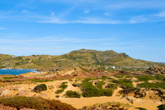 Binimela coast in Menorca Royalty Free Stock Photo