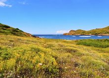 Binimella Beach on Menorca Royalty Free Stock Images