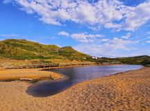 Binimella Beach on Menorca Stock Images