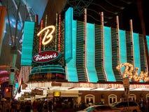 Binion的赌博娱乐场在夜之前 免版税库存图片