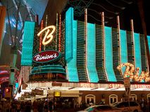 Binion's Casino by Night Royalty Free Stock Image