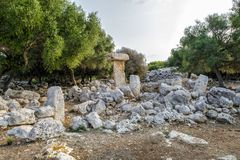 Binissafullet is a Talayotic village in Menorca, Spain Royalty Free Stock Photography