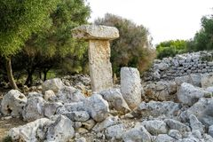 Binissafullet is a Talayotic village in Menorca, Spain Royalty Free Stock Photos