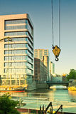 汉堡、现代建筑学和老仓库Binn的 免版税库存照片