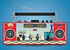Binnen één radio royalty-vrije illustratie