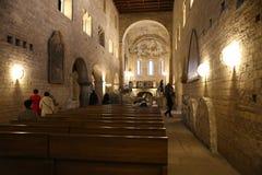 Binnen abdij Praag Stock Foto