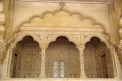 Binnen Agra fort, India Stock Afbeeldingen
