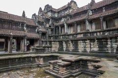 Binnen Angkor Wat stock fotografie
