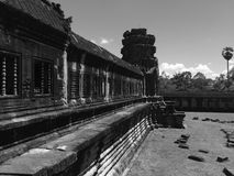 Binnen Angkor Wat Royalty-vrije Stock Foto's
