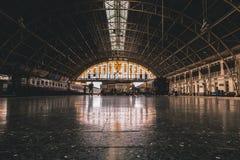 Binnen Bangkok Hua Lamphong Railway Station royalty-vrije stock foto's