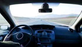 Binnen bewegend voertuig royalty-vrije stock afbeelding