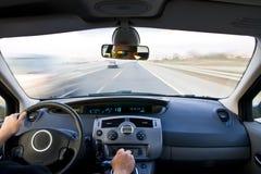 Binnen bewegend voertuig stock foto's