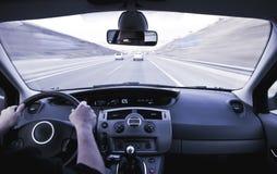 Binnen bewegend voertuig royalty-vrije stock fotografie