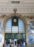 Binnen binnenland van het station van Saobento in Porto, Portugal stock afbeelding