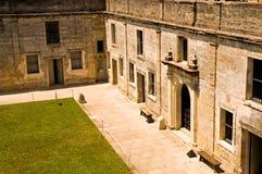 Binnen binnenplaats van oud fort Royalty-vrije Stock Foto
