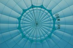 Binnen blauwe hete luchtballon Royalty-vrije Stock Fotografie