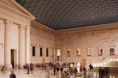 Brits museum in Londen stock afbeeldingen
