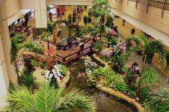 Binnen Changi luchthaven Royalty-vrije Stock Afbeelding