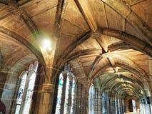 Binnen Chester Cathedral, Kerk van Engeland stock afbeeldingen