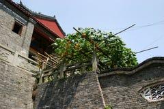 Binnen Chinese Boeddhistische Tempel Royalty-vrije Stock Fotografie